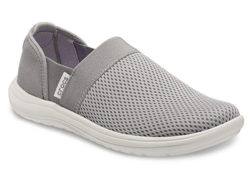Crocs™ Reviva Mesh Slip-On Women's Smoke/Pearl White
