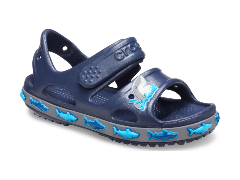 Crocs™ Funlab Shark Band Sandal Kids Navy
