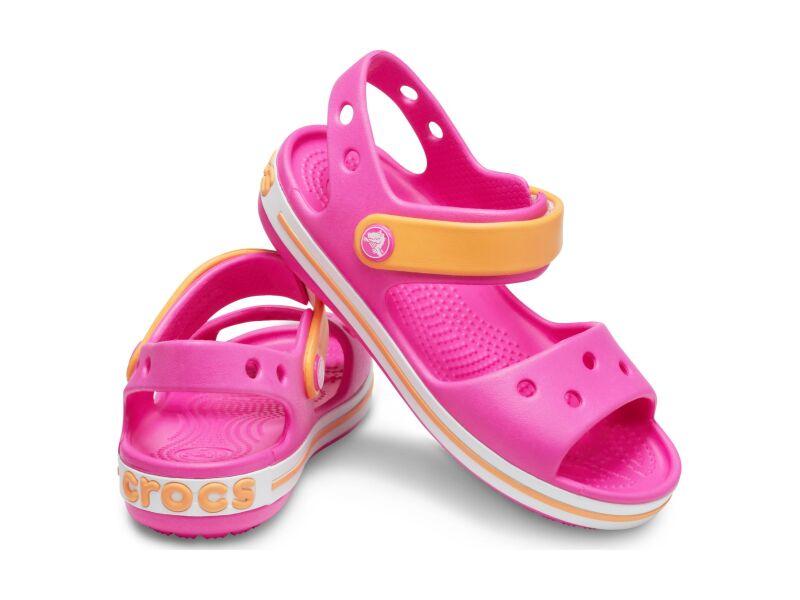 Crocs™ Crocband Sandal Kids Electric Pink/Cantaloupe
