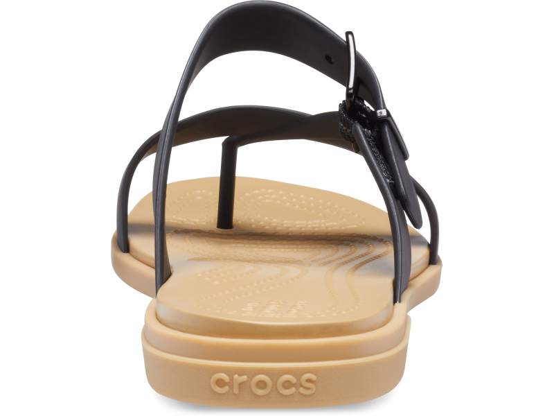 Crocs™ Tulum Toe Post Sandal Womens Black/Tan