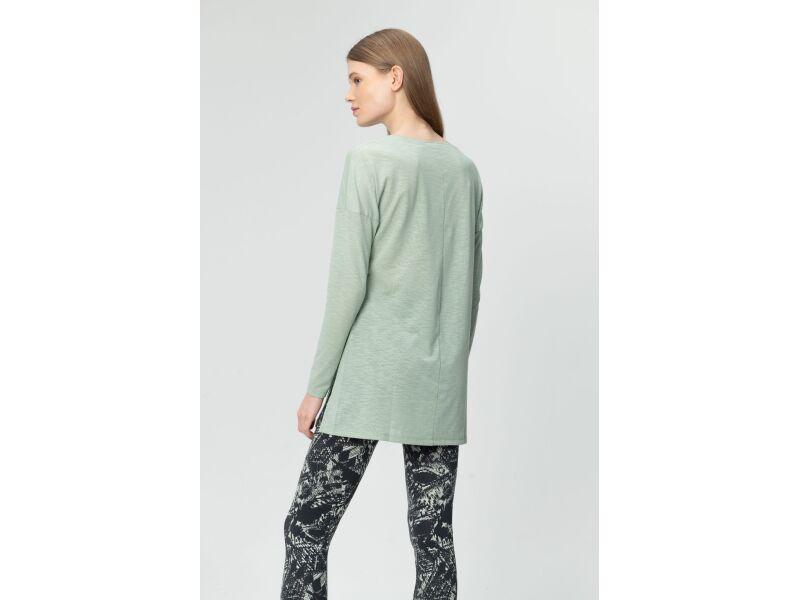 AUDIMAS Sieviešu T-krekls ar īsām piedurknēm Frosty Green