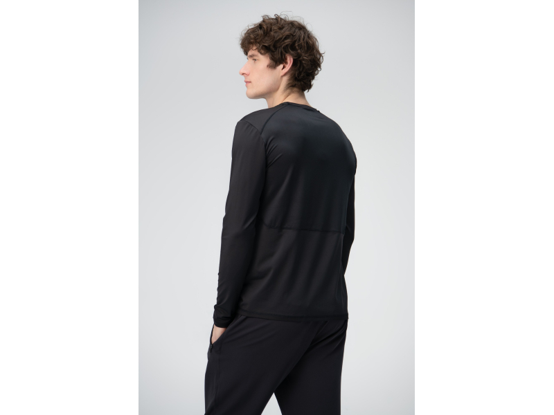 AUDIMAS Vīriešu t-krekls ar garām piedurknēm Black