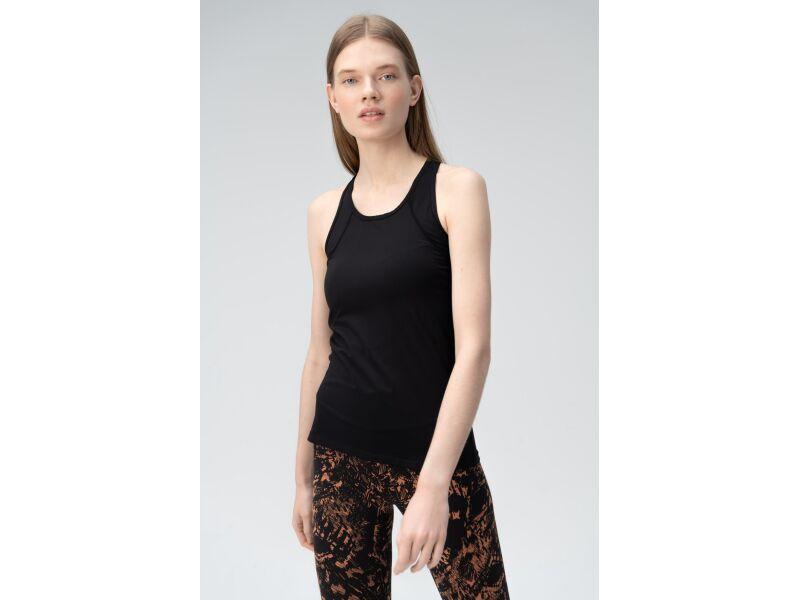 AUDIMAS Sieviešu t-krekls bez piedurknēm Black