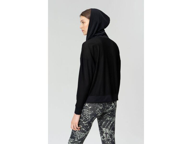 AUDIMAS Sieviešu džemperis iesildīšanās vingrinājumiem Black