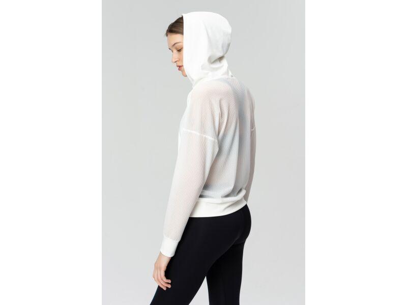 AUDIMAS Sieviešu džemperis iesildīšanās vingrinājumiem White