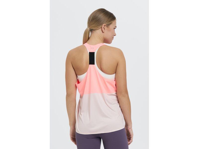 AUDIMAS Funkcionāls sieviešu t-krekls bez piedurknēm aktīvai atpūtai Melon/Nectar