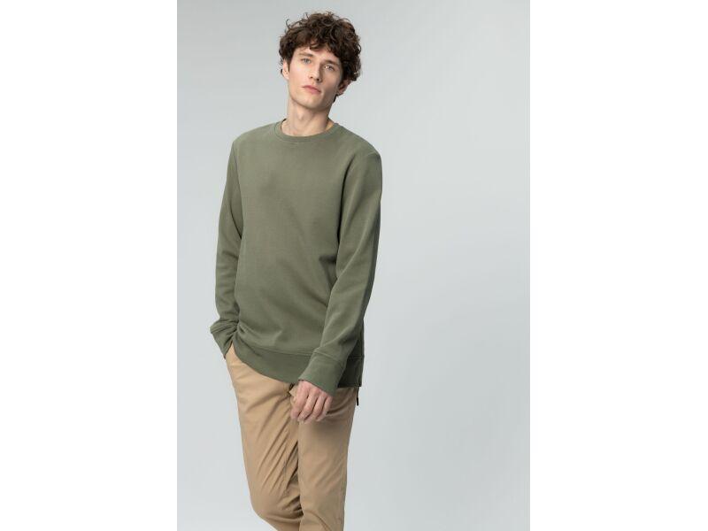 AUDIMAS Vīriešu kokvilnas džemperis Deep Lichen Green