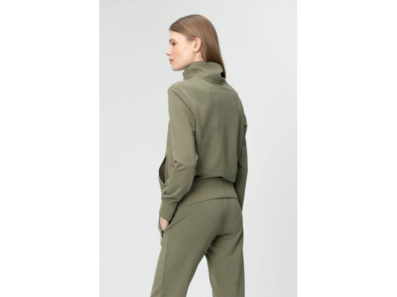 AUDIMAS Sieviešu sporta džemperis Deep Lichen Green
