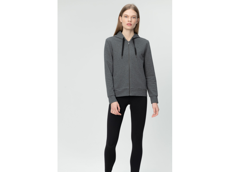 AUDIMAS Sieviešu džemperis ar taisnu siluetu Middle Grey Melange