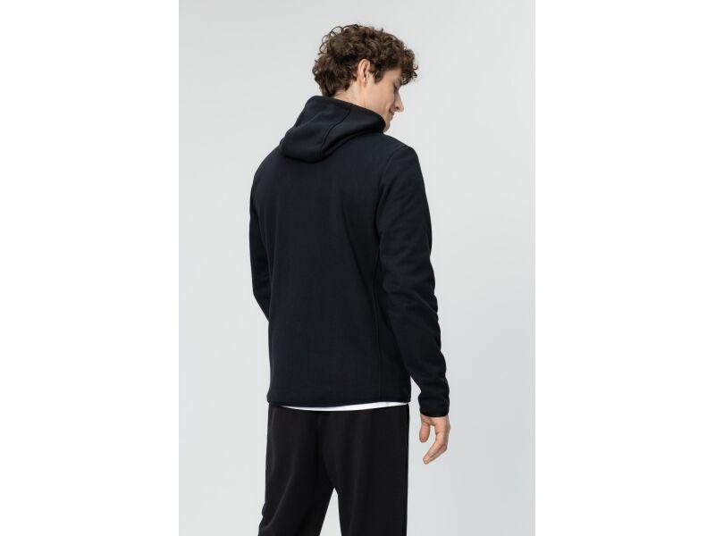 AUDIMAS Vīriešu džemperis ar kapuci iesildīšanās vingrinājumiem Black