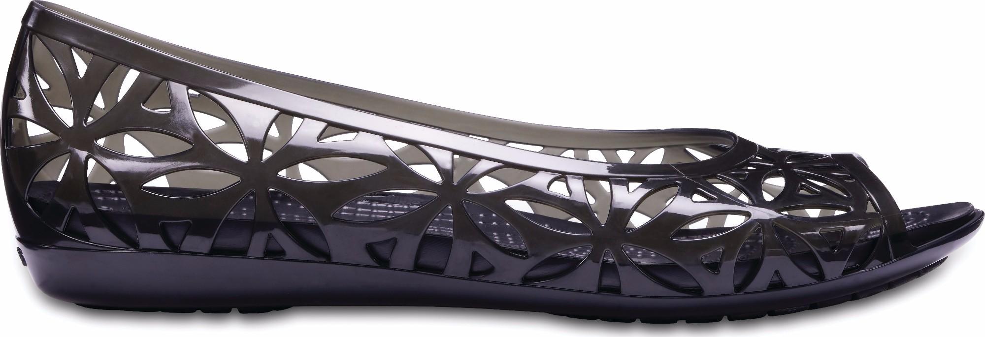 93b4833b881 Previous. Crocs™ Isabella Jelly II Flat Black Black ...