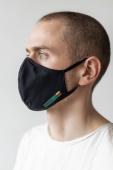 AUDIMAS atkārtoti lietojama 3D maska Black