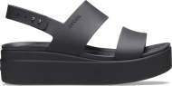 Crocs™ Brooklyn Low Wedge Womens Black/Black