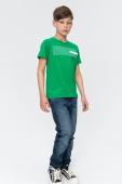 AUDIMAS Kokvilnas T-krekls ar apdruku 20LT-410 Jolly Green Lt