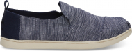 TOMS Striped Chambray Men's Deconstructed Alpargata Navy