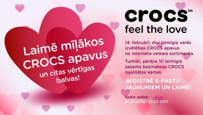 Laimē mīļākos CROCS apavus!