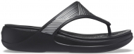 Crocs™ Monterey Metallic Wedge Flip Black