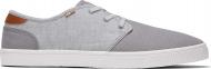 TOMS Canvas Slub Chambray Men's Carlo Sneaker Grey