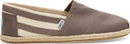 TOMS Stripe University Men's Classic Alpargata Dark Grey