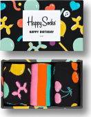 Happy Socks Balloon Animal Birthday Gift Box Multi 7300