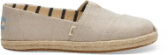 TOMS Canvas on Mono Rope Women's Alpargata Pearlized Metallic