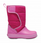 Crocs™ Lodgepoint Snow Boot Kid's Candy Pink/Party Pink