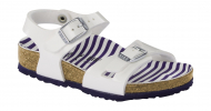 Birkenstock Rio Kids Nautical Stripes White