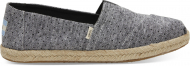 TOMS Chambray Dots on Rope Women's Alpargata Black
