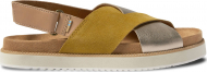 TOMS Amber Suede Metallic Leather Women's Marisa Gold