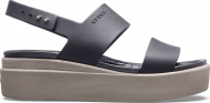 Crocs™ Brooklyn Low Wedge Womens Black/Mushroom
