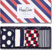 HAPPY SOCKS Big Dot Box Navy/Red/White