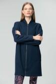 AUDIMAS Женская длинная свободная толстовка 2011-151 Navy Blazer