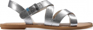 TOMS Leather Women's Sicily Silver