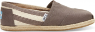 TOMS Stripe University Women's Classic Alpargata Dark Grey