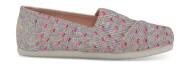 TOMS Heartsy Twill Glimmer Junior's Alpargata Pink
